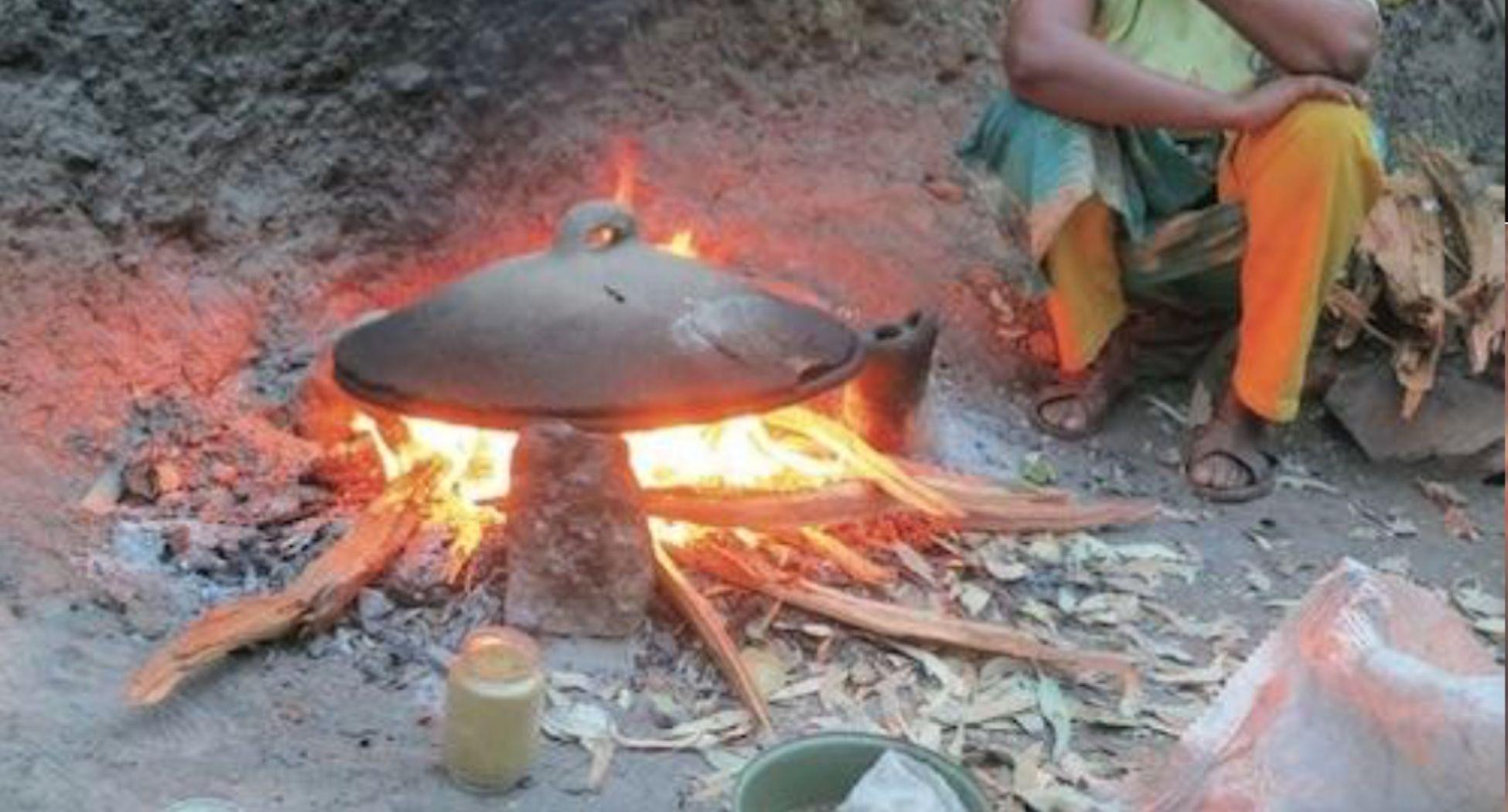 cocina de tres piedras_uso madera